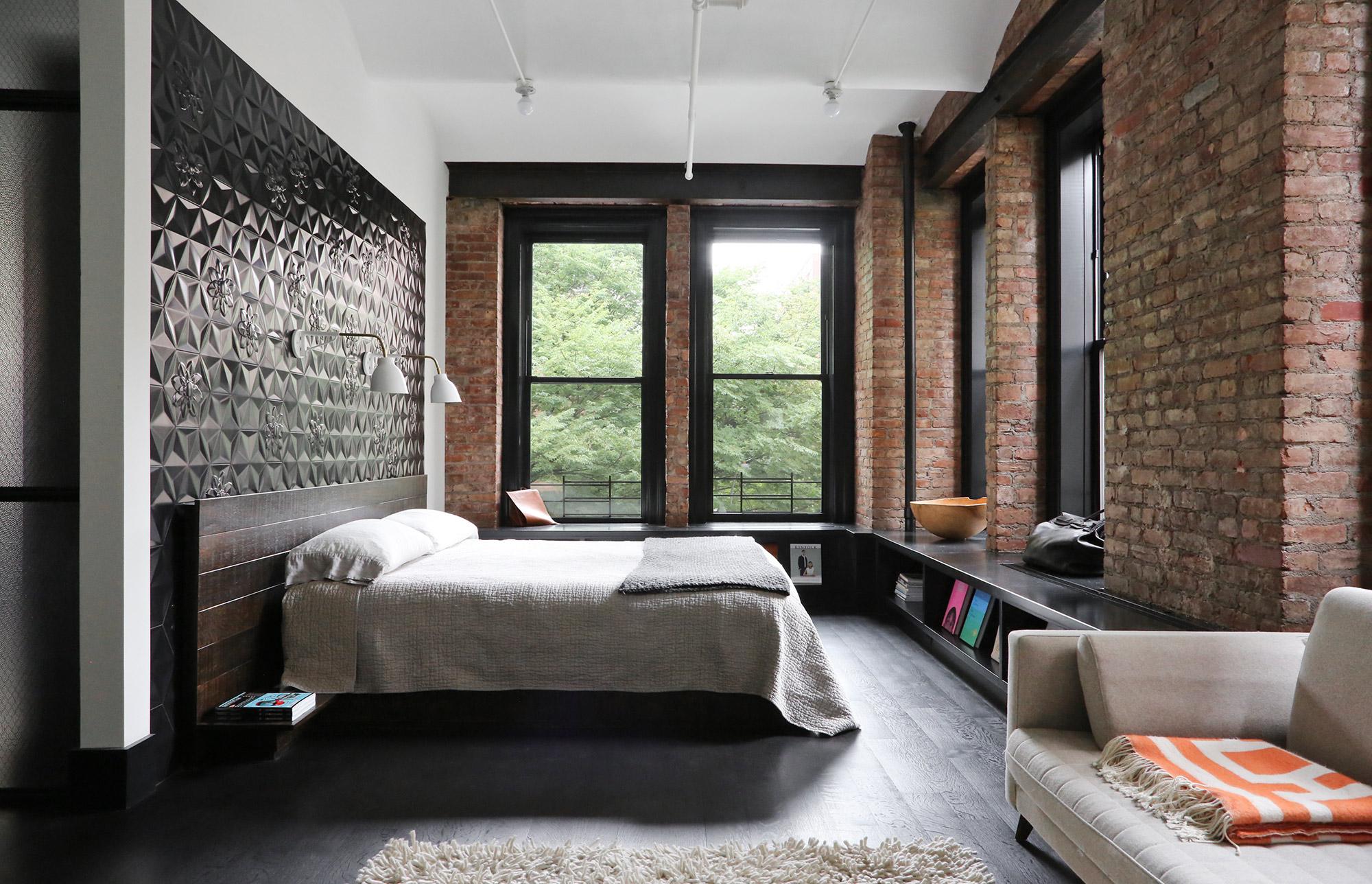 Дизайн спальни в стиле лофт идеи фото
